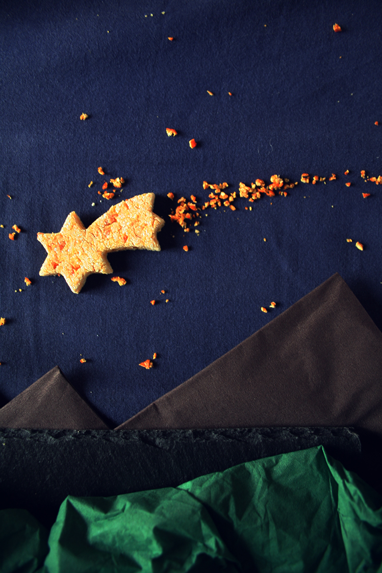 Biscotti al mandarino, delle profumate e brillanti stelle comete