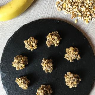 praline di banana e cereali misti soffiati