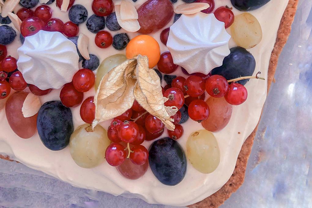 ricetta crostata frutta e zenzero