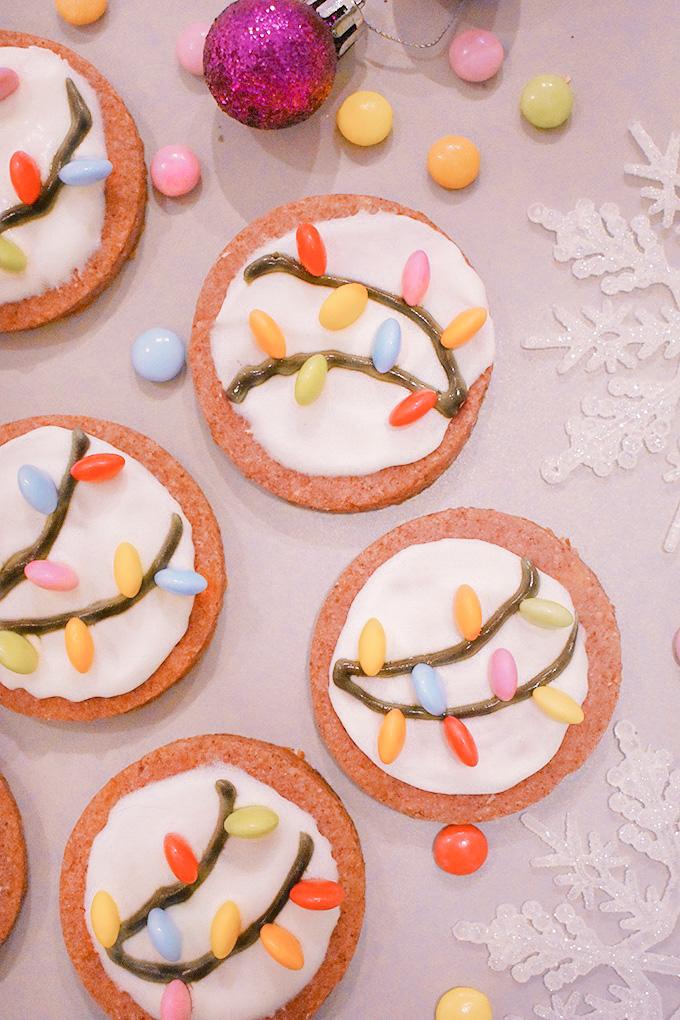 Biscotti di Natale con lucine
